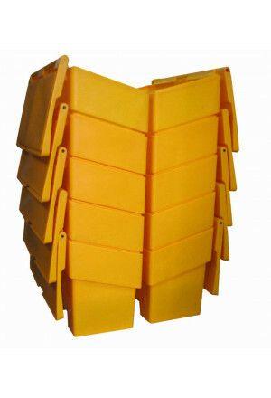 Gele opslagkist zout 200 liter PE200N
